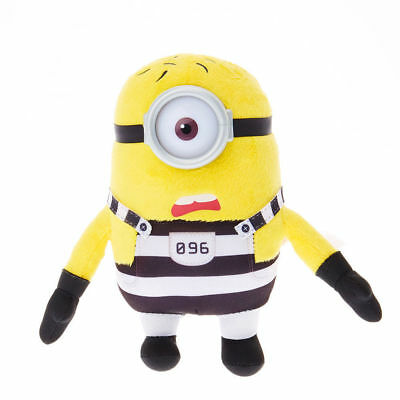 despicable me 3 minion soft toy in breakout prison outfit Stuart new with tags - Despicable Me Minion Outfit