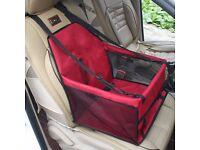 Pet Car seat carrier Dog Cat Pet (Red)