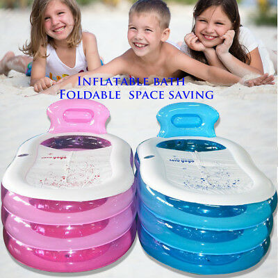 Adult Child Spa PVC Folding Bath Portable Bath Tub Warm Inflatable Pink / Blue](Inflatable Bath Adult)