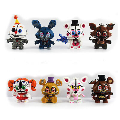 Five Nights At Freddys Foxy 8 Pcs Fnaf Action Figure Cake Topper Kids Gift Toys