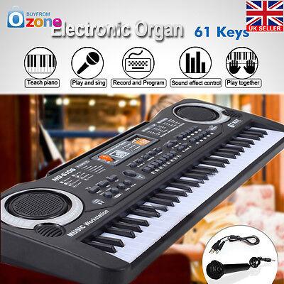 New 61 Keys Digital Music Electronic Keyboard Key Board Toy Electric Piano Gift