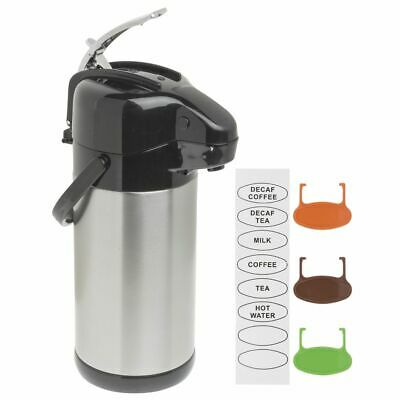 Hubert Airpot Coffee Dispenser With Lever Lid Thermal 2.5 Liter