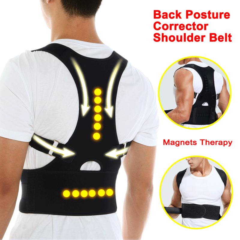 Upper Back Posture Corrector Shoulder Lumbar Support Magneti