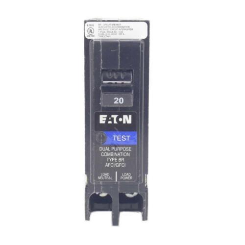 Eaton BR 20 Amp 1-Pole Dual Function Plug-On Neutral Circuit Breaker