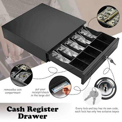 Money Box 5bill 5coin Cash Register Drawer Tray Epsonstar Pos Machine Rj11rj12