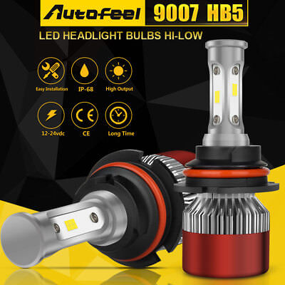 9007 HB5 LED Headlight Conversion Kit 1100W 165000LM HI-LO Dual Beam Bulbs White