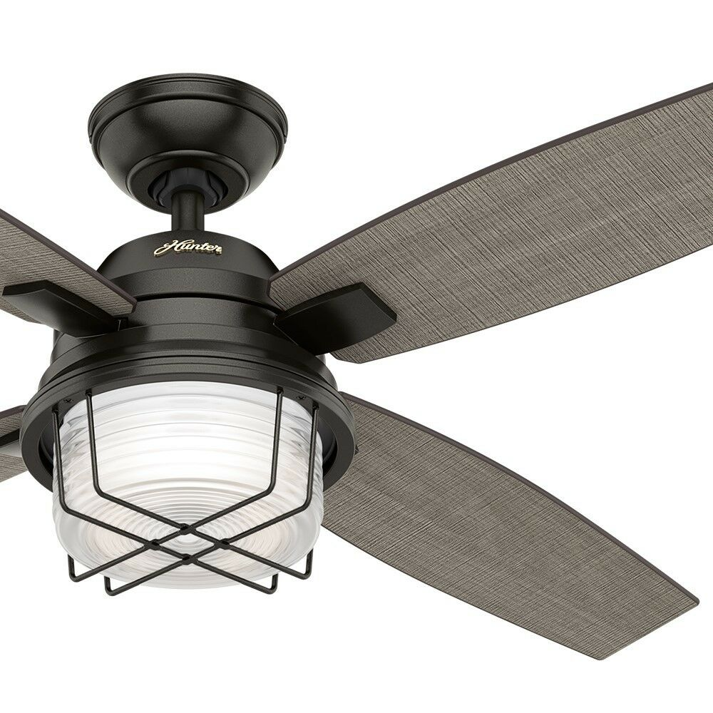 52 Hunter Outdoor Ceiling Fan Noble Bronze Light Kit