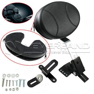 Adjustable Leather Plug in Driver Rider Backrest For Harley Touring Road King US