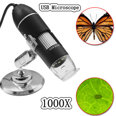 8led 2mp Usb Camera Magnifier Stand 1000x Digital Microscope Endoscope Zoom New