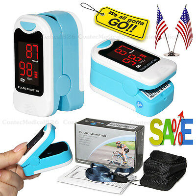 Us Seller Finger Pulse Oximeter Blood Oxygen Sensor O2 Spo2 Monitor Heart Rate