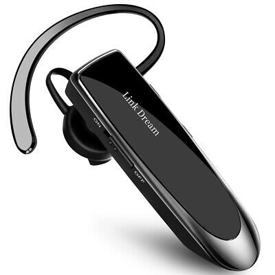 Link Dream Bluetooth 5.0 Headset Trucker Earpiece Noise Cancelling Headphones