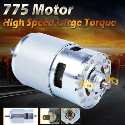 775 Dc Motor Ball Bearing Large Torque Power Low Noise 0.16a 24v 7000rpm L3a9