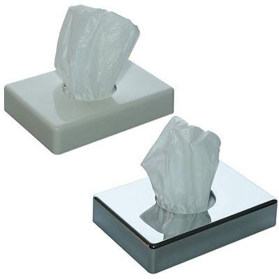 1 St. Hygienebeutel Spender weiß oder chromfarben + 90 Hygienebeutel
