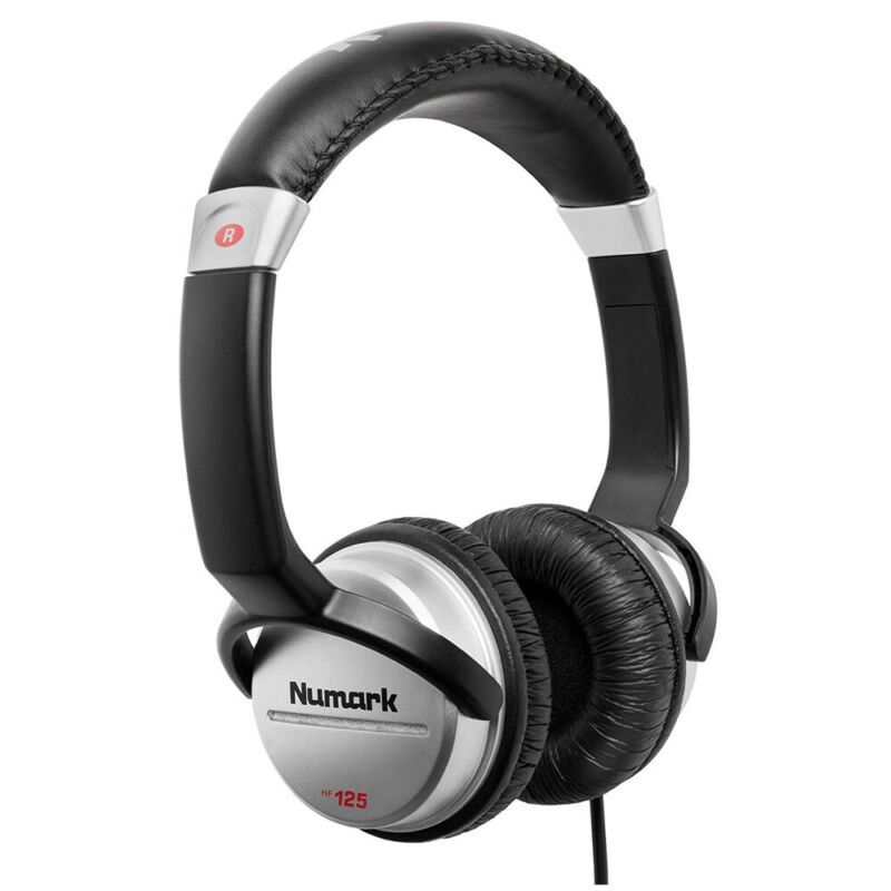 Numark HF125 Closed Back DJ Headphone with 7 Position Adjustable Earcups