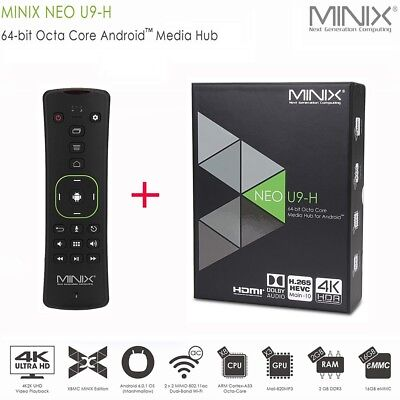 MINIX NEO U9-H Smart TV Box Android 6.0 WiFi Streaming Video Media Player + A3