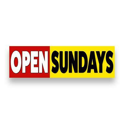 Open Sundays Vinyl Banner Size Options