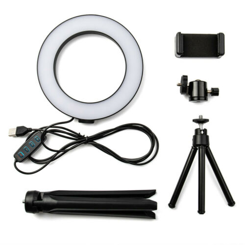 6″ LED Ring Fill Light Studio Photo Video USB Dimmable Lamp Selfie Portable US Camera & Camcorder Lights
