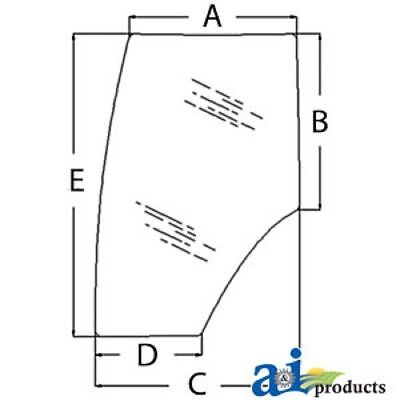 344730a2 Ford New Holland Case Magnum Tractor Door Glass Mx200 Mx210 Tg245