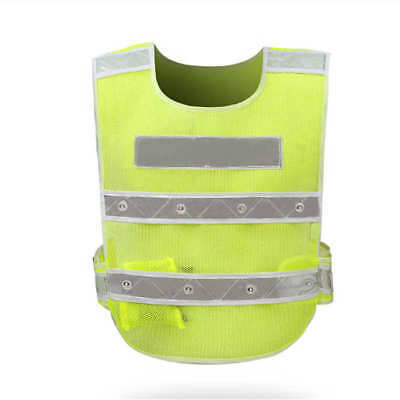 Led Reflector Safety Gear Vest Traffic Warning Vests With Reflective Stripes