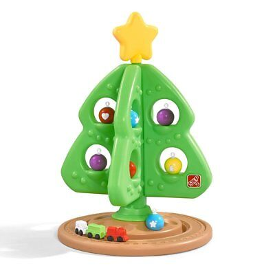STEP 2 CHRISTMAS TREE FOR KIDS 8 Ornaments 3 Piece Train Set Durable Sturdy NEW