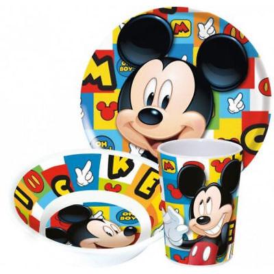 Kinder Frühstücksset Mickey Melamin Kindergeschirr Disney Geschenkidee