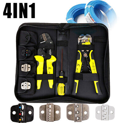 4 In 1 Wire Crimpers Terminal Crimping Pliers Cord Endterminals Tool Kit Set
