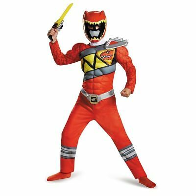 Power Rangers Red Ranger Dino Charge Classic Muscle Costume | Disguise 82777 (Dino Charge Red Ranger Kostüm)