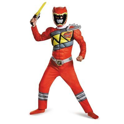 Power Rangers Red Ranger Dino Charge Classic Muscle Costume | Disguise 82777](Costume Power Ranger)