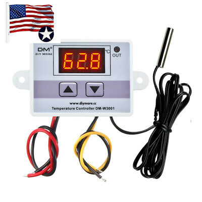 24v 220v W3001 Ledtemperature Controller Led 10a Thermostat Control Switch Probe