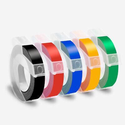 5pk Label Tape Refill For Dymo 3d Plastic Embossing Tape Xpress Label Maker 38