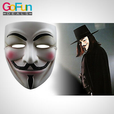 1 Stück Vendetta Maske Halloween Cosplay Fawkes Anonymous - Fawkes Kostüm