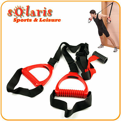 Suspension Doorway Exerciser for Full Body Strength Training Workout Home Gym