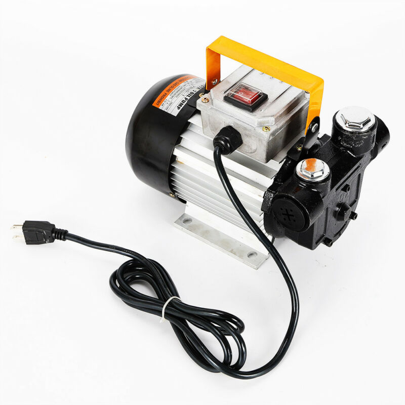 Self Priming 110V 60L/min Oil Transfer Pump Fuel Diesel Kerosene Biodiesel Pumps