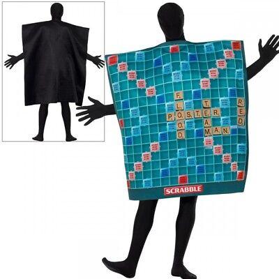 Scrabble Kostüm Herren Neuheit Brettspiel Outfit Einheitsgröße + - Brettspiele Kostüm