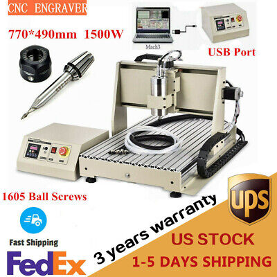 1500w Usb 3 Axis 6040 Cnc Router Engraver Ball Screws Mill Machine 3d Cutter Usa