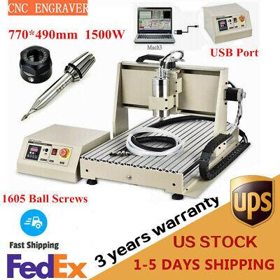 1500w Usb 3 Axis 6040 Cnc Router Engraver Ball Screws Mill Machine 3d Cutter Ce