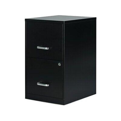 Myofficeinnovations 2-drawer Vertical File Cabinet Locking Letter Black 18d