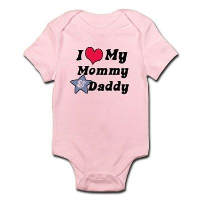 CafePress I Love My Mommy And Daddy Infant Creeper Baby Bodysuit (50742770) Love Mommy Infant Creeper