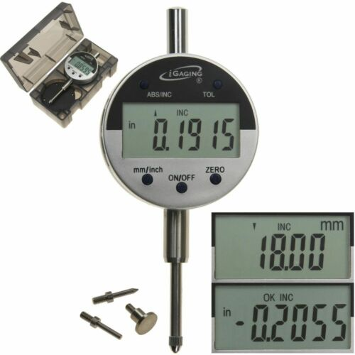 """Digital Electronic Indicator 1""""/0.0005"""" Gauge 4 Probes Absolute Hold Inch/Metric"""