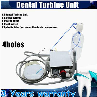 Dental Turbine Unit Work For Air Compressor3way Syringe Portable 4holes Sale