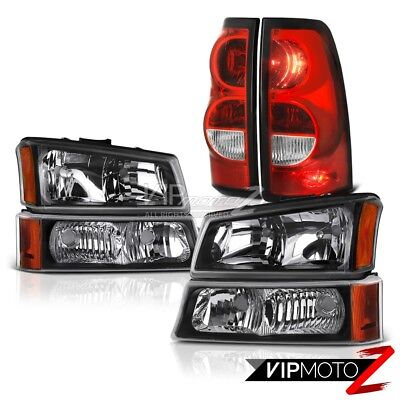 2003-2006 Chevy Silverado 1500 2500HD 3500HD 6PC FRONT+REAR Headlights Tail Lamp