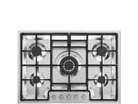 SMEG Classic PGF75-4 72cm Gas Hob - Stainless Steel