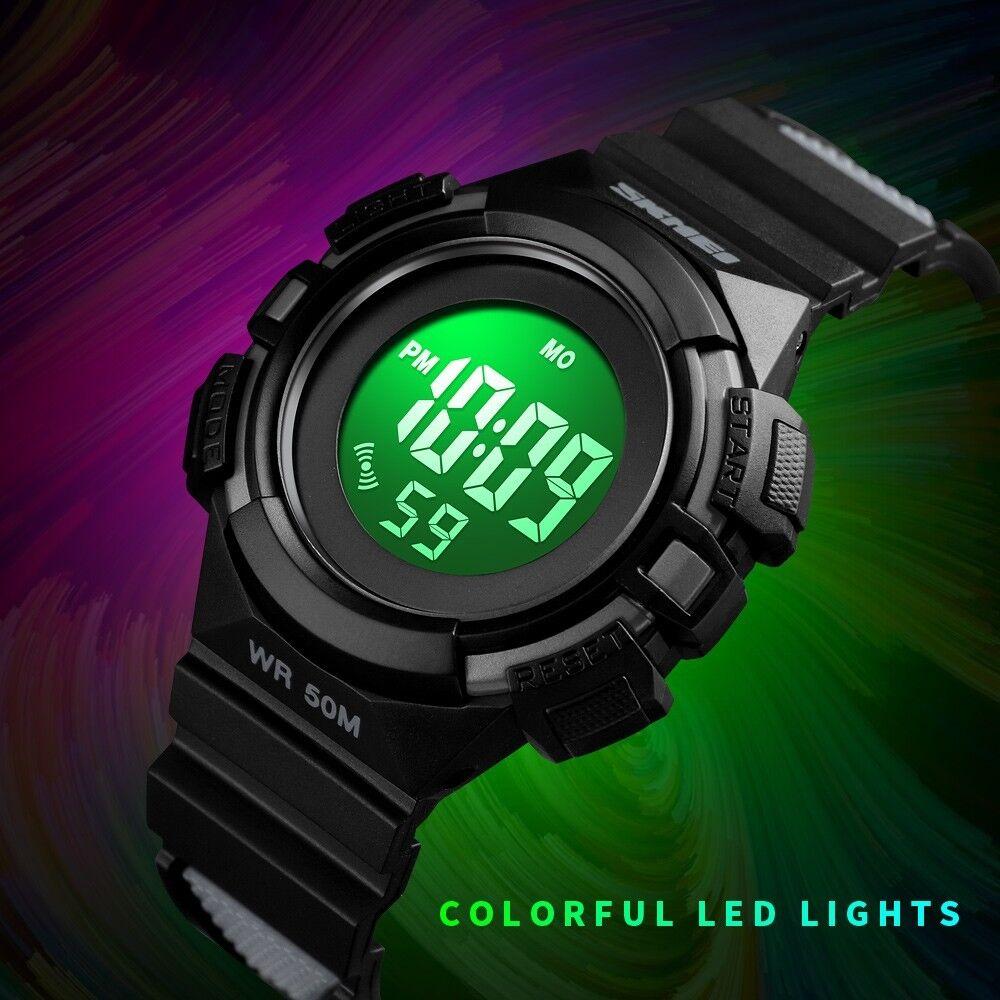 SKMEI Kids Boy Girl Sport Digital Waterproof LED Timer Alarm