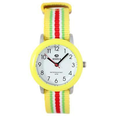 Marea B41159/5 Kinder Armbanduhr für Jungen-Mädchen mit farbenfrohen Textilband