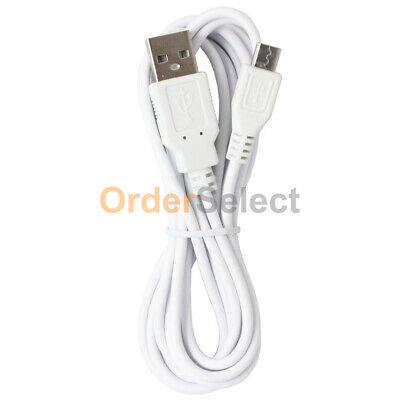 White 6Ft Micro USB Charging Cable Data Sync Charger Cord for Android Samsung LG