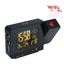 LCD Digital Projection Alarm Clocks Radio Control Wireless Weather Station