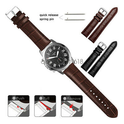22mm 20mm Crocodile Leather Wristband Watch Band Strap For Fossil Watch Crocodile Leather Band