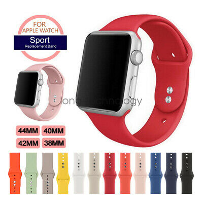 Sport Silicon Watch Band Strap for Apple Watch iWatch Series 4 3 40mm 44mm 42mm ()
