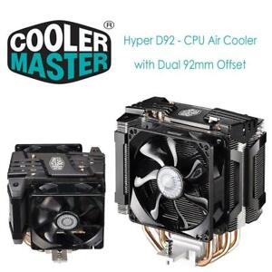NEW Cooler Master Hyper D92 - CPU Air Cooler with Dual 92mm Offset Push-Pull Fans and Accelerated Cooling System Cond...