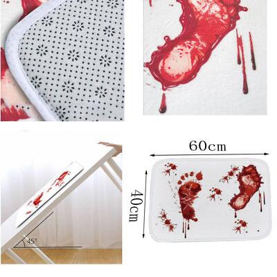 Soft Bathroom Carpets Halloween Style Rug Decoration Blood Footprints Mat - Halloween Bathroom Decor